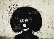 Clown. Symbolic image of the clown who laughs and cries Stock Images