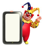 Clown with Tab Royalty Free Stock Image