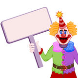 Clown with table Stock Photo