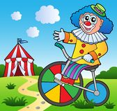 Clown theme picture 2. Vector illustration Royalty Free Stock Photos
