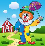 Clown theme picture 4. Vector illustration Stock Photo