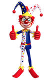 Clown thumbs up pose Stock Image