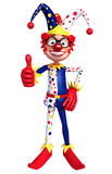 Clown thumbs up pose Royalty Free Stock Photo