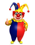 Clown with thumbs up sign Stock Photo