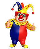 Clown with Thums up pose Stock Images