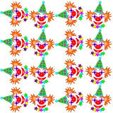 Clown tiles Stock Image