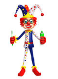 Clown with Tooth brush and paste Stock Photos