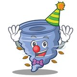 Clown tornado character cartoon style Royalty Free Stock Photo