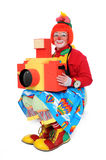 Clown With Toy Camera stock photos