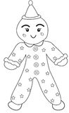 Clown toy coloring page Stock Photography