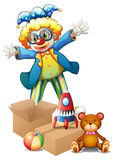A clown with toys Royalty Free Stock Photo