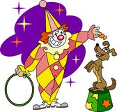 Clown training  dog Royalty Free Stock Photo
