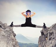Clown between two mountains Royalty Free Stock Images