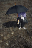 Clown and umbrella Royalty Free Stock Images