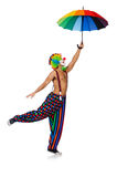 Clown with umbrella Royalty Free Stock Photography