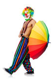 Clown with umbrella Royalty Free Stock Images