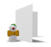 Clown und Karte lizenzfreie abbildung