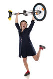 Clown with a unicycle Royalty Free Stock Photography