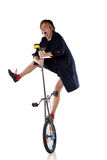 Clown with a unicycle Royalty Free Stock Images