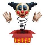 Clown van de doos royalty-vrije illustratie