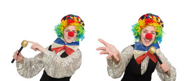 Clown in various poses isolated on white Stock Images