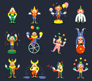 Clown vector characters Stock Photography