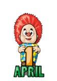 Clown  vector illustration Royalty Free Stock Photo