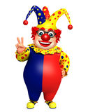 Clown with Victory pose Royalty Free Stock Image