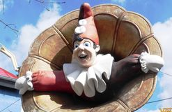 Clown in Vienna in the Prater Royalty Free Stock Photography