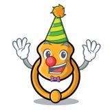 Clown vintage door knocker on mascot cartoon. Vector illustration royalty free illustration