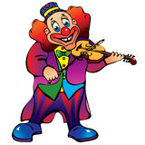 Clown with violin. Stock Images