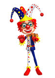 Clown with violin stock illustration