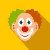 Clown vlak pictogram royalty-vrije illustratie