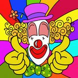 Clown wallpaper Royalty Free Stock Photos