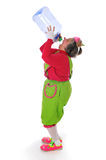 Clown with water bottle Stock Images