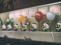 Clown Water Gun Game Balloon Stock Image