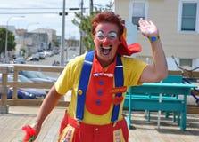 Clown waving hello Royalty Free Stock Photos