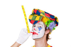 Clown with whistle Stock Photos