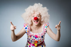 Clown with white wig Royalty Free Stock Photos