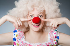Clown with white wig Stock Images