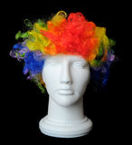Clown Wig on a Mannequin Head Stock Photos