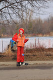 Clown at Winter Carnival Royalty Free Stock Photography