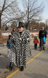 Clown at Winter Carnival Stock Image