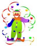 Clown With Balls, Cdr Vector Royalty Free Stock Photos