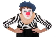 Clown woman looking at camera Royalty Free Stock Photo