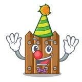 Clown wooden fence pattern for design cartoon. Vector illustration royalty free illustration