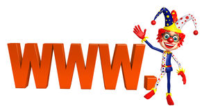 Clown with with WWW sign Royalty Free Stock Images