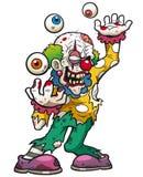 Clown zombie. Vector illustration of Cartoon clown zombie royalty free illustration