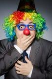 Clownaffärsman Arkivbilder