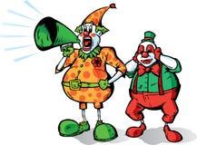 Clownansage Stockfoto